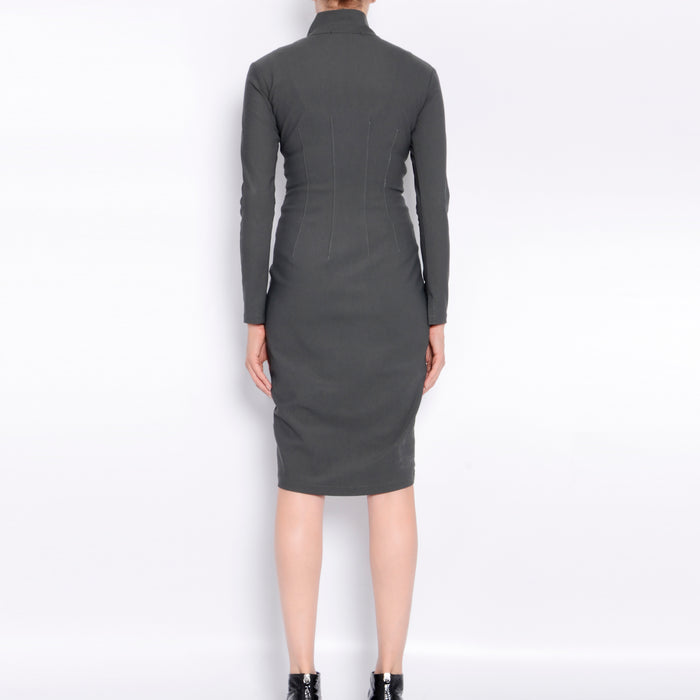 Rimini Tech Stretch Front Zip Dress