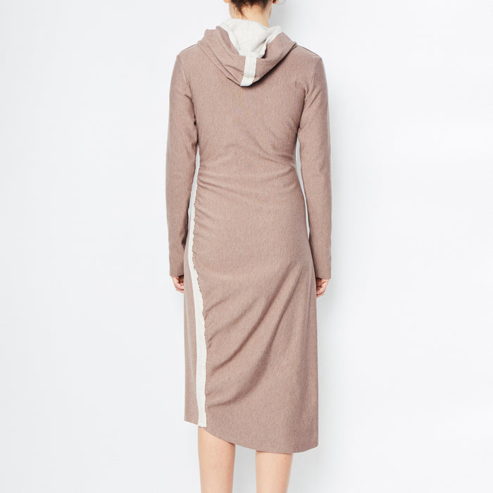 Rocky Fleece Dress with Hood-Dress-Elaine Kim-Elaine Kim Studio-travel wardrobe-office casual-independent designer