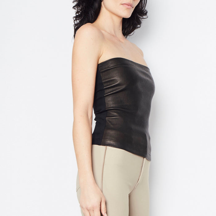 Romeo Leather Tube Top-Top-Elaine Kim-Elaine Kim Studio-travel wardrobe-office casual-independent designer