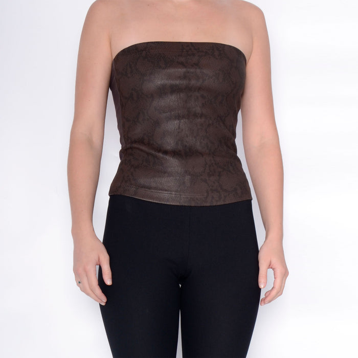 Romeo Leather Tube Top