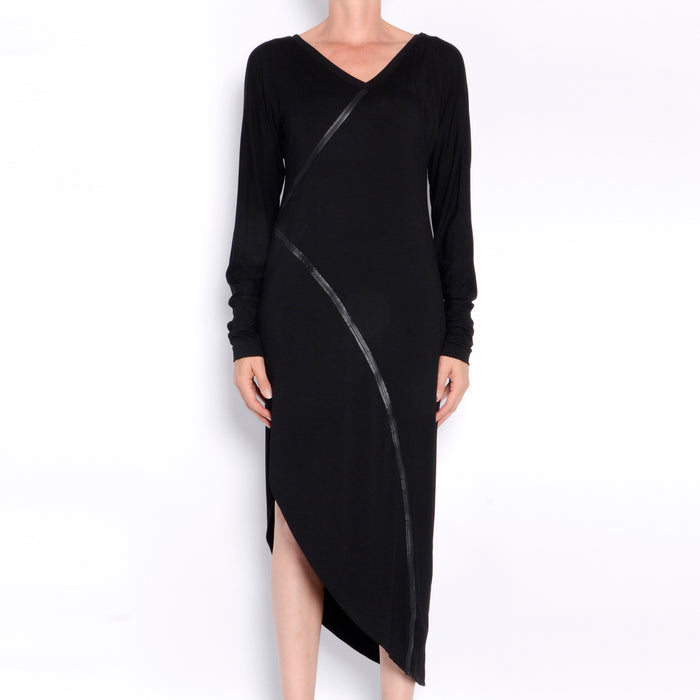 Ronelle Rayon Jersey Asymmetric Dress-Dress-Elaine Kim-Elaine Kim Studio-travel wardrobe-office casual-independent designer