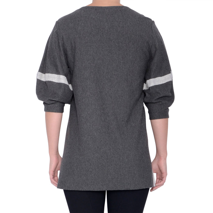 Rosario Fleece Sweatshirt with Lantern Sleeves