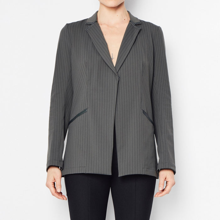 Roweena Tech Stretch Blazer - Stripe Juniper / P - Stripe Juniper / S - Stripe Juniper / M - Stripe Juniper / L - Stripe Juniper / XL
