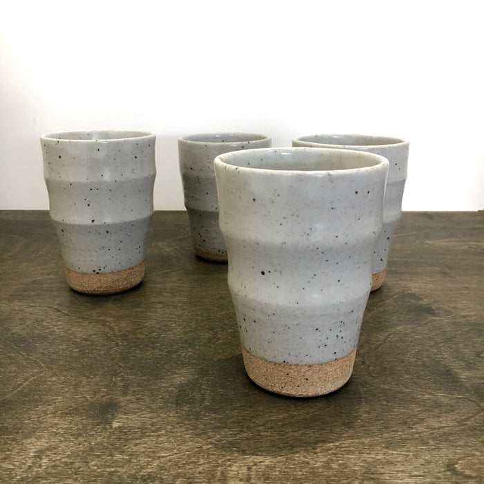 Mirena Kim Ceramic Ruth Cups - White Speckle Glaze