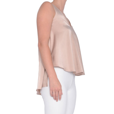 Cupro High Low V Neck Tank Seneca
