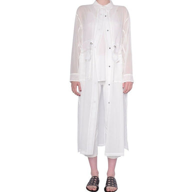 Organdy Sheer Coat - SEQUOIA