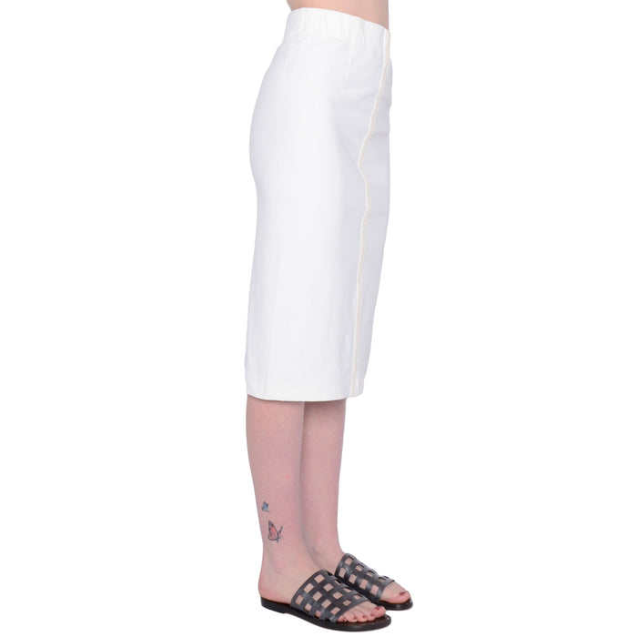 Serida Tech Stretch Skirt with Leather Trim