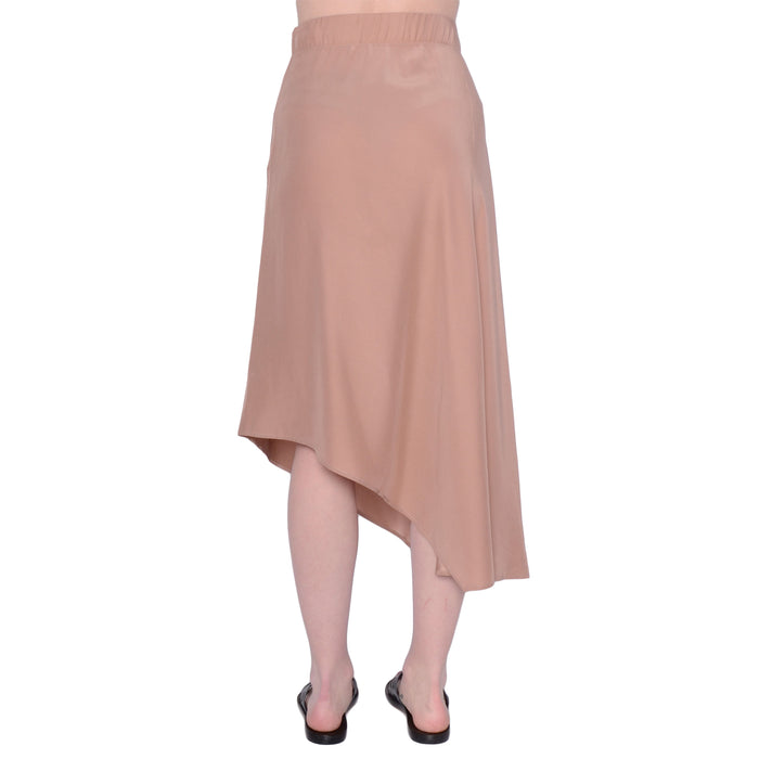 Silk Asymmetric Skirt Shantel