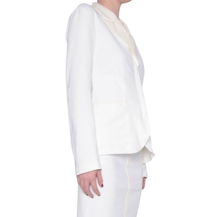 Tech Stretch Blazer with Peaked Leather Collar Siren