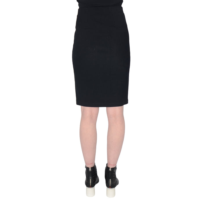 Tech Stretch Skirt with Leather Trim Serida