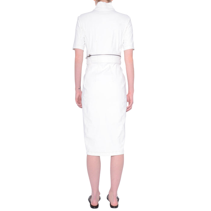 Tech Stretch Zip Off Dress w/ Contrast Stitch - SOLANGE
