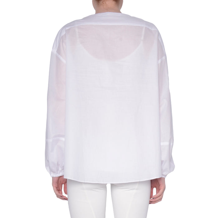 Cotton Voile Lantern Sleeve Top - SYCAMORE