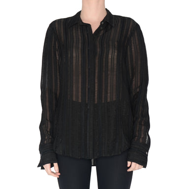 Sheer Stripe Shirt Savon