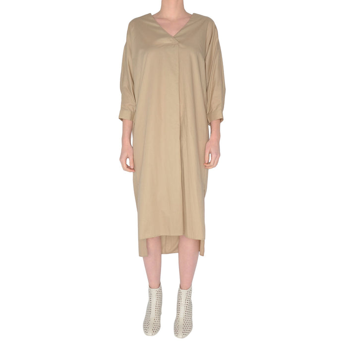 Cotton Voile V Neck Dress Sunset