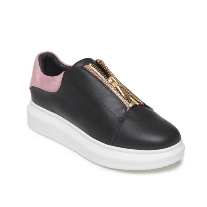 Hollie Watman Zip It Sneaker - Black / 6 - Black / 6.5 - Black / 7 - Black / 7.5 - Black / 8 - Black / 8.5 - Black / 9 - Black / 9.5