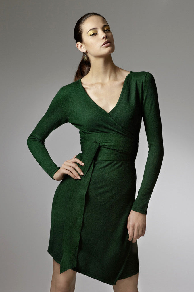Sophie cashmere wrap dress