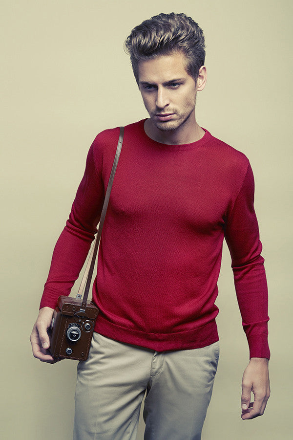 David Men Sweater in Silk-Cashmere