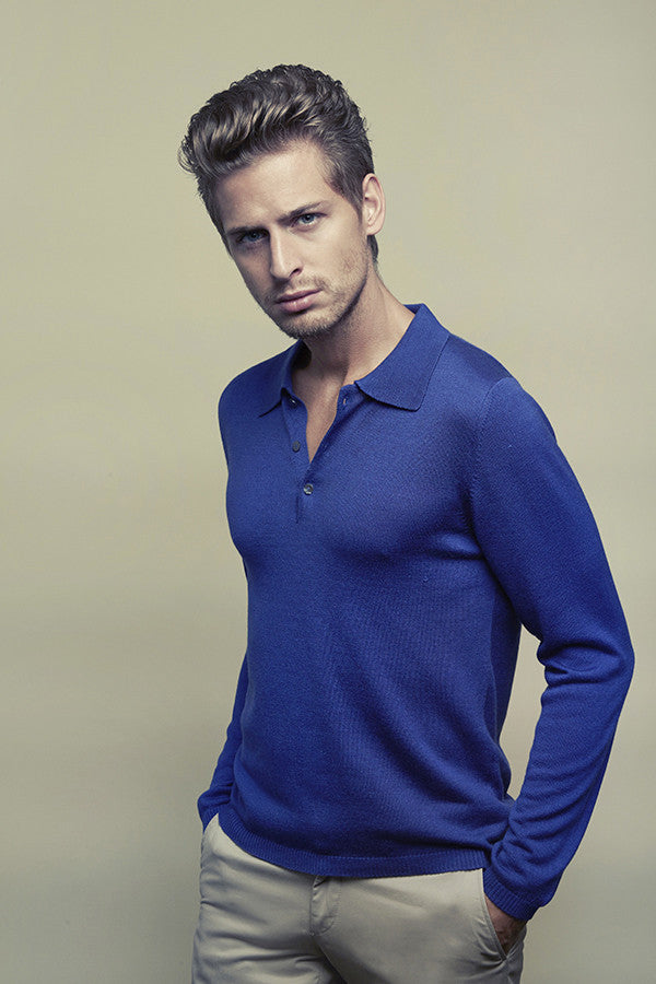 Dustin Men Polo Shirt in Silk-Cashmere