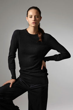 Nora  round neck long sweater in cashmere
