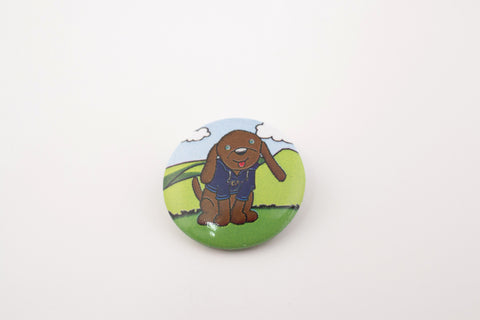 BADGE - PIN, FUDGE THE DOG