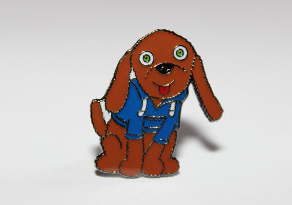 BADGE - ENAMEL, FUDGE THE DOG
