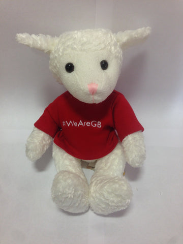 LAYLA LAMB IN RED T-SHIRT (WITH FREE ADVENT BOOKLET)