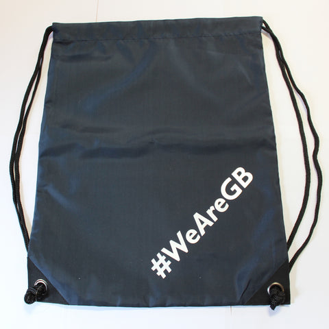 NAVY DRAWSTRING BAG - #WeAreGB