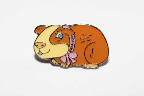 BADGE - ENAMEL, POPCORN THE GUINEA PIG