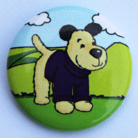 BADGE - PIN, GILBERT THE DOG