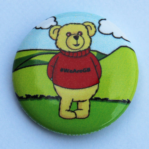 BADGE - PIN, HONEY BEAR