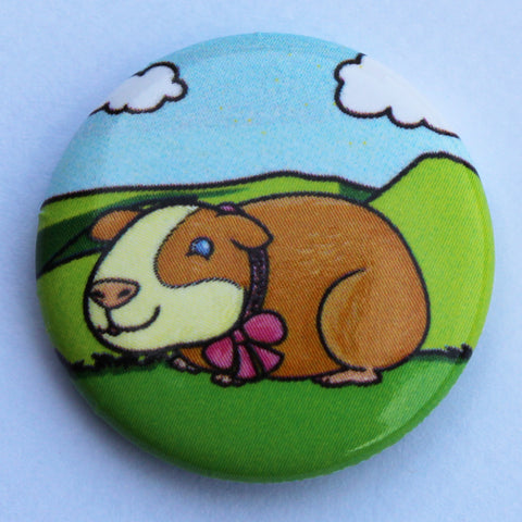 BADGE - PIN, POPCORN THE GUINEA PIG