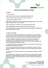 Hunter Scientific Terms and Conditions of Sale
