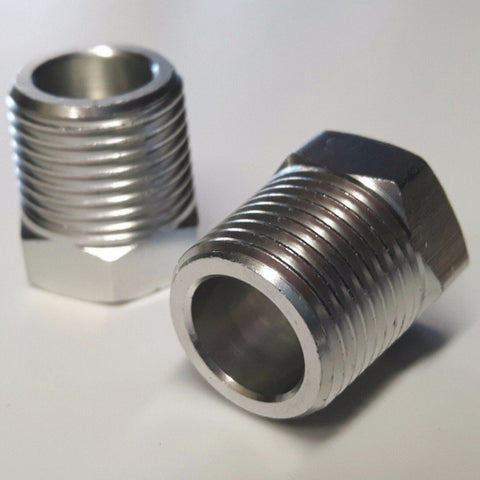 "Aluminium 3/8"" NPT tapered male thread blank screws for Marine, Boat & RIB"