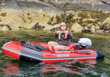 Red/Black WolfStar Caiman C330RFD Inflatable (SIB) Boat