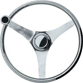 All Stainless Equi Steering wheel for boats & RIBs suitable for Commercial use.