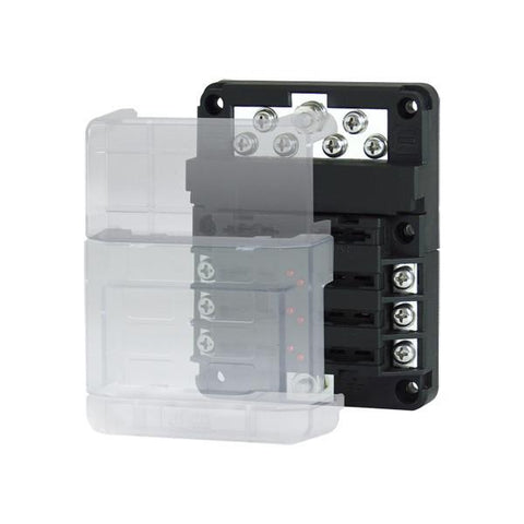 6-Way Modular Fuse Block with Negative Bus Bar