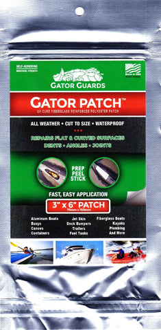 Gator Patch UV cured Fibreglass Kayak & Boat hull repair - Emergency/Workshop use