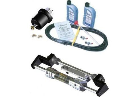 Hydrive Admiral Bullhorn Steering Kit for Outboards in very narrow engine wells