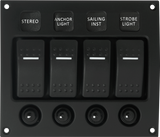 IP66 4-Way Modular Switch Panel with circuit breakers
