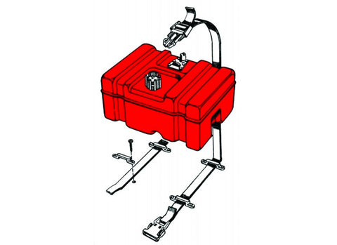 T-H Marine Fuel Tank Hold Down Kit (P/N: FCH-1-DP)