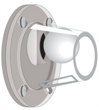 "Rabud 3"" Ball Valve Scupper (clear housing)"