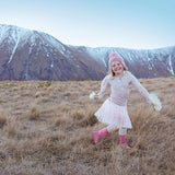Pure and organic merino wool from New Zealand. Our junior rib top in organic merino