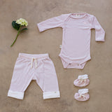 perfect organic merino suit to keep baby warm and dry