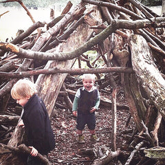 Building a fort is fun and also great for little developing minds