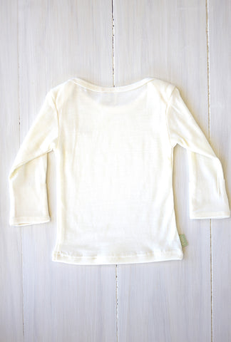 NEW organic merino baby top long-sleeved