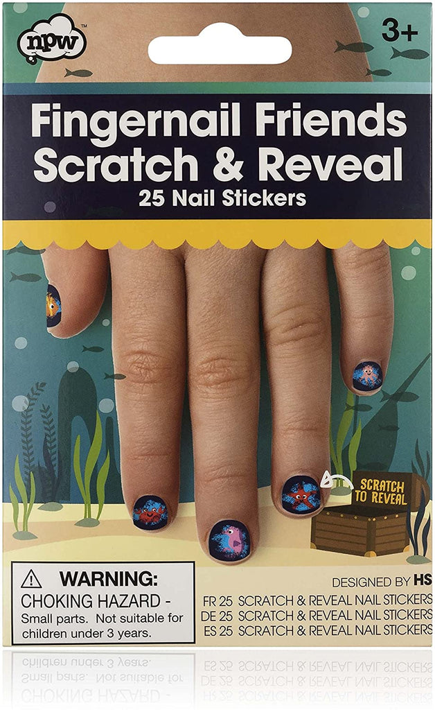 Fingernail friends scratch & reveal 25 nail stickers