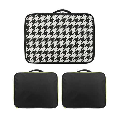 Air Cube Bag Set HoundStooth Black