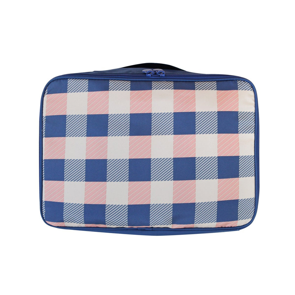 Air Cube Bag (M) Check Blue