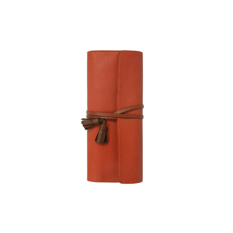 Tassel Rolling Pencase Rust Orange