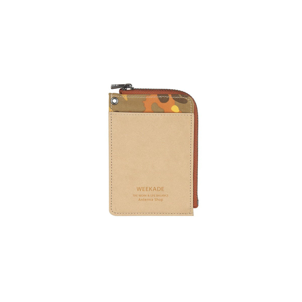 Zipper slit wallet (Camo Beige)